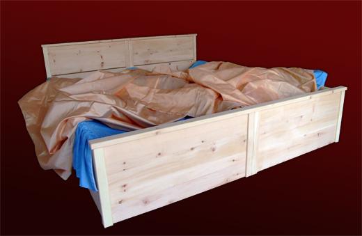 Zirbenholzbett fuer Allergiker aus Zirbenholz